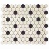 "EliteTile New York 1-7/8"" x 1-7/8"" Porcelain Mosaic Tile in Antique"