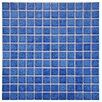 "EliteTile Pool 1"" x 1""Porcelain Mosaic in Aral"