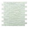 EliteTile Timber Glass Glass Textured Mosaic in White