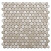 <strong>Metallic Stainless Steel Over Porcelain Mosaic Tile in Silver</strong> by EliteTile