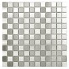 EliteTile Metallic Stainless Steel Over Porcelain Mosaic Tile in Silver
