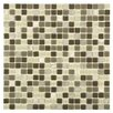 EliteTile Ambit Glass and Stone Mosaic Tile in Aegis