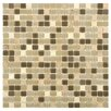 EliteTile Ambit Glass and Stone Mosaic Tile in Crest