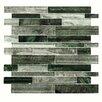 EliteTile Wildwood Random Sized Glass Mosaic Tile in Evergreen