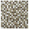 EliteTile Commix Glass and Brushed Aluminum Mosaic Tile in Champagne