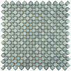 "EliteTile Gem 3/4"" x 3/4"" Porcelain Mosaic Floor and Wall Tile in Glossy Marine"