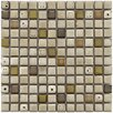 "Essentia 12-1/2"" x 12-1/2"" Glazed Ceramic Square Mosaic in Sierra"