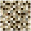 "EliteTile Sierra 7/8"" x 7/8"" Polished Glass and Stone Square Mosaic in Nassau"