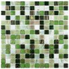 "<strong>EliteTile</strong> Fused Glass 3/4"" x 3/4"" Polished Glass Mosaic in Forest Green"
