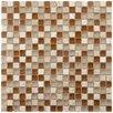 "EliteTile Sierra 5/8"" x 5/8"" Polished Glass and Stone Mini Mosaic in Breno"