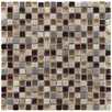 "<strong>Sierra 5/8"" x 5/8"" Polished Glass, Stone and Metal Mini Mosaic in A...</strong> by EliteTile"