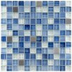 "<strong>EliteTile</strong> Sierra 7/8"" x 7/8"" Polished Glass and Metal Square Mosaic in Alpine"