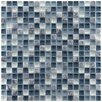 "EliteTile Sierra 5/8"" x 5/8"" Polished Glass and Stone Mini Mosaic in Gulf"