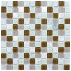 "<strong>EliteTile</strong> Chroma 7/8"" x 7/8"" Square Glass and Stone Mosaic Wall Tile in Manzanilla"