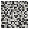 """EliteTile Grizelda Chiseled 3/5"""" x 3/5"""" Natural Stone Unpolished Mosaic in Charcoal"""