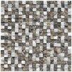 """EliteTile Grizelda Chiseled 5/8"""" x 5/8"""" Natural Stone Mosaic in sand"""