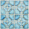 EliteTile Moonlight  Random Sized Porcelain Mosaic in Diva Blue