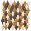 "<strong>EliteTile</strong> Heritage 2-1/4"" x 1-1/4"" Ceramic Argyle Mosaic in Goldstone"