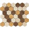 """EliteTile Heritage 1-3/4"""" x 1-3/4"""" Ceramic Hex Mosaic in Goldstone"""
