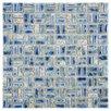 EliteTile Arcadia Random Sized Porcelain Glazed Mosaic in Neptune Blue