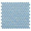 "Penny 12-1/4"" x 12"" Glazed Porcelain Mosaic in Light Blue"
