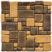 "Heritage 12"" x 12"" Ceramic Mosaic in Goldstone"