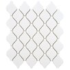 """<strong>Arabesque 2-3/4"""" x 1-7/8"""" Porcelain Mosaic Tile in Matte White</strong> by EliteTile"""