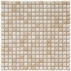 "<strong>EliteTile</strong> Arcadia 9/16"" x 9/16"" Glazed Porcelain Mosaic in Perla Bone"