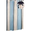 <strong>Carnation Home Fashions</strong> EZ On Stripes B Polyester Shower Curtain