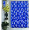 <strong>Snow Flakes Polyester Fabric Holiday Shower Curtain</strong> by Carnation Home Fashions