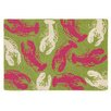 Company C Lobsterfest Green/Pink Novelty Rug