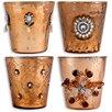 Home Essentials and Beyond 4 Piece Amravati Copper Votive Set (Set of 4)