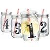 Home Essentials and Beyond He 4 Piece 16 oz. Mason Jar Set