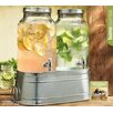 Home Essentials and Beyond He 1.5 Gal Twin Dispenser with Galvanized Base