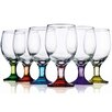 <strong>Home Essentials and Beyond</strong> Carnival 12 oz. All Purpose Glass (Set of 6)