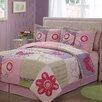 My World Pink Butterfly Flower Quilt Set