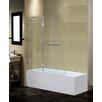 Aston Frameless Pivot Tub-Height Shower Door