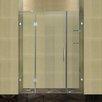 Aston Completely Frameless Hinged Shower Door with Glass Shelves