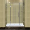<strong>Aston</strong> Completely Frameless Hinged Shower Door with Glass Shelves and Low-Profile Base