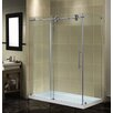 Aston Completely Frameless Sliding Shower Door Enclosure with Low-Profile Base