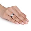 Amour 10K Gold Round Cut Pearl Ring