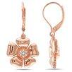 Amour Round Cut Diamond Dangle Earrings