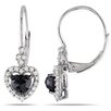 <strong>Amour</strong> 10K Round Cut Diamond Drop Earrings