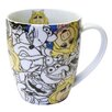 Zrike Disney 14 oz. All Over Miss Piggy Mug (Set of 4)