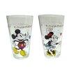 Zrike Disney 2 Piece 16 oz. Mickey and Minnie Glass Tumbler Set