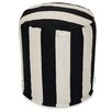 Majestic Home Products Vertical Stripe Small Pouf