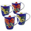 Konitz 11 oz. Poppy and Sunflower Mug (Set of 4)