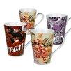Konitz Assorted Vintage 13 oz. Mugs 4 Piece Set
