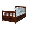 Bolton Furniture Mission Twin Slat Bed with 2 Storage Drawers