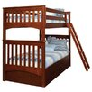 <strong>Mission Twin Over Twin Standard Bunk Bed with 3 Drawer Under Bed Case</strong> by Bolton Furniture